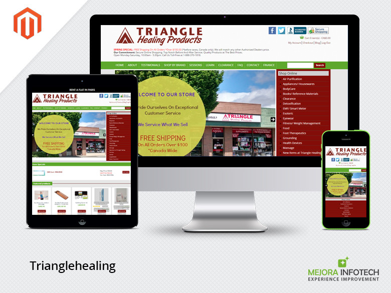 Triangle healing product